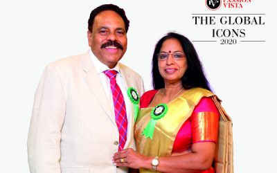 """Passion Vista felicitated Mr & Mrs Gopinathan Nair as """"The Global Icon 2020"""""""